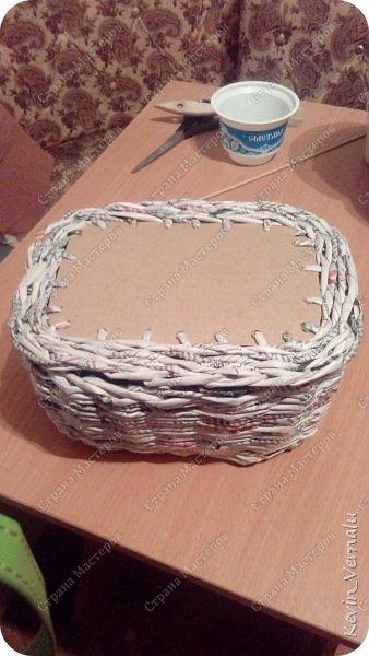 Всем привет! Сегодня у меня дебют с плетением шкатулок.Конечно, недостатков много...Я ж лузер ещё...Но подарок для одноклассницы ,думаю,душевный получился.Пишите,над чем нужно поработать.Итак,фото.Как всегда,упаковано в рукав для запекания. фото 3