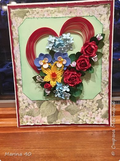 Quilling card фото 1