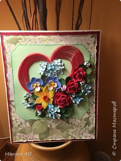 Quilling card фото 5