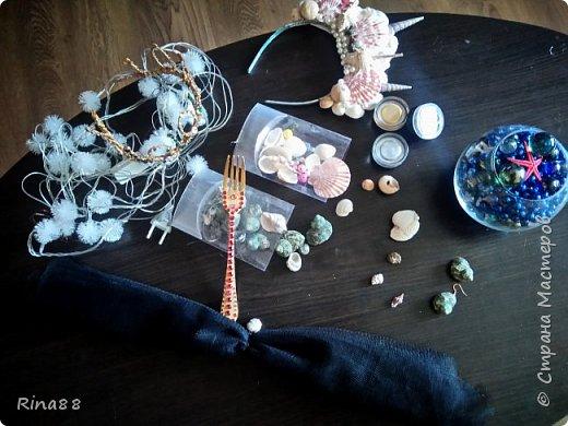 Видоизмененная для второй фотосессии Русалочья корона из ракушек.   фото 6