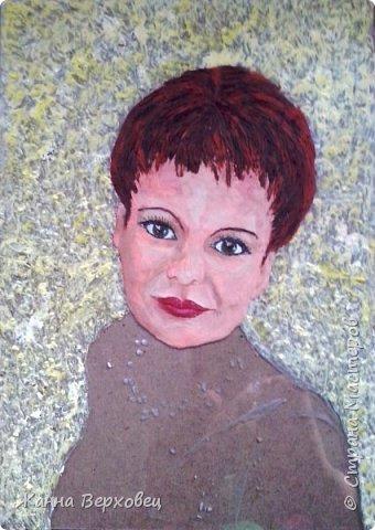 """""""Женский портрет"""" 21*30 Выношу на ваш суд ещё одну свою работу. Решила сделать свой портрет. Увеличила фотографию и приступила к работе. фото 4"""