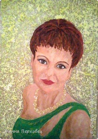 """""""Женский портрет"""" 21*30 Выношу на ваш суд ещё одну свою работу. Решила сделать свой портрет. Увеличила фотографию и приступила к работе. фото 1"""