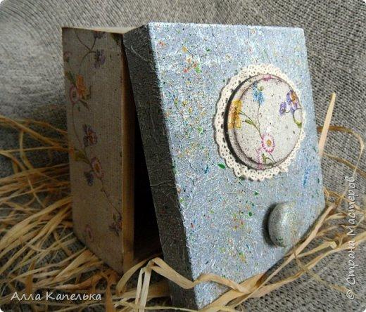 Наконец-то я для своих любимых конфеток сделала шкатулку. Теперь они будут лежать в красивом и удобном месте, а не валяться в пакетике в комоде... фото 6