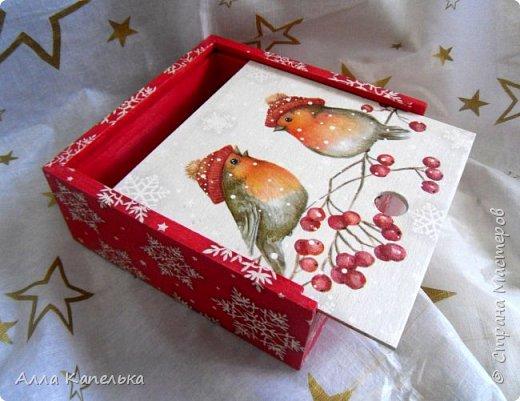 Сотворила в июне такое вот зимне-новогоднее чудо 2 в 1. Это и кубики для игры / интерьерные кубики и шкатулка для конфет.  фото 8