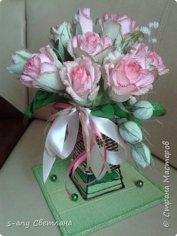 Розы делала по МК Ларисы Тепляковой. Очень эффектные! фото 2