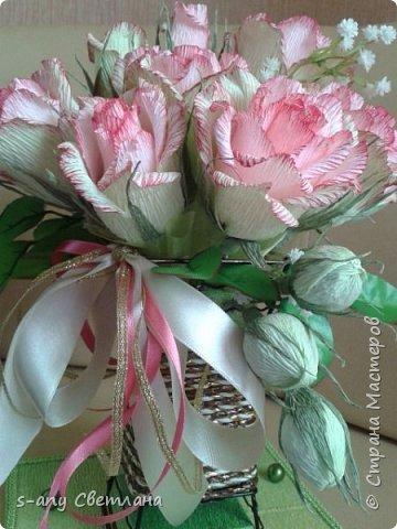 Розы делала по МК Ларисы Тепляковой. Очень эффектные! фото 3