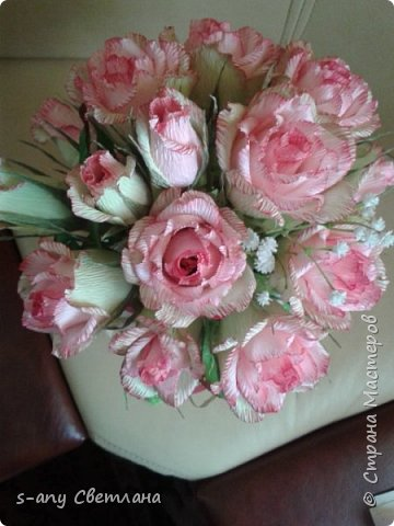 Розы делала по МК Ларисы Тепляковой. Очень эффектные! фото 4