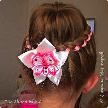 резинки для волос канзаши фото 12