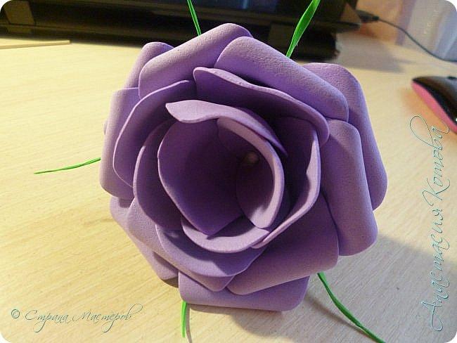 Сегодня, я хочу поделиться с вами МК по изготовлению такой простой розы. фото 1