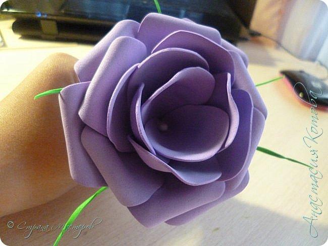 Сегодня, я хочу поделиться с вами МК по изготовлению такой простой розы. фото 13