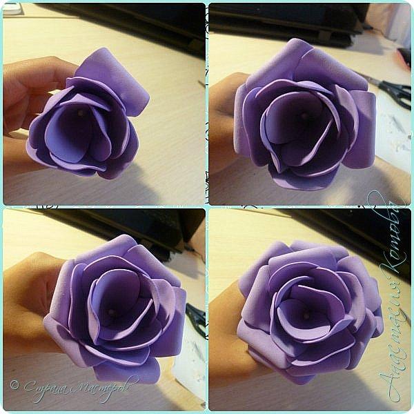 Сегодня, я хочу поделиться с вами МК по изготовлению такой простой розы. фото 10