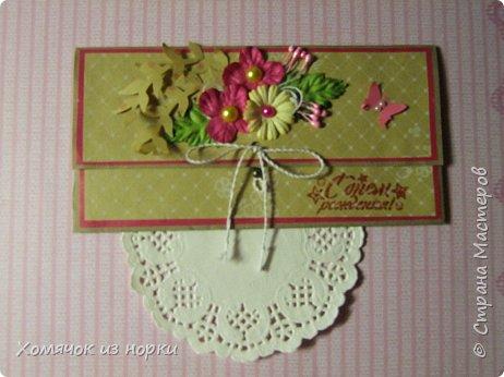 Решила сделать конверты для денег, а за идею взяла конверты у Голубки (http://stranamasterov.ru/golubka)... Размер конвертов: 17,5 см*8,5 см фото 3