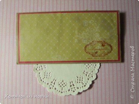 Решила сделать конверты для денег, а за идею взяла конверты у Голубки (http://stranamasterov.ru/golubka)... Размер конвертов: 17,5 см*8,5 см фото 5