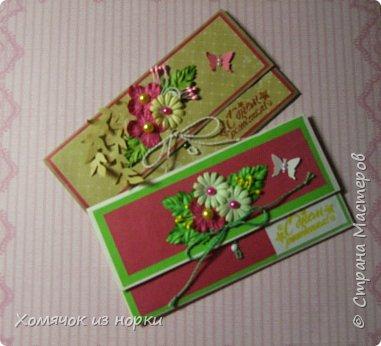 Решила сделать конверты для денег, а за идею взяла конверты у Голубки (http://stranamasterov.ru/golubka)... Размер конвертов: 17,5 см*8,5 см фото 1