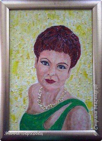 """""""Женский портрет"""" 21*30 Выношу на ваш суд ещё одну свою работу. Решила сделать свой портрет. Увеличила фотографию и приступила к работе. фото 5"""