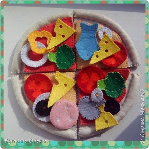 Пицца из фетра- развивающая игра фото 1