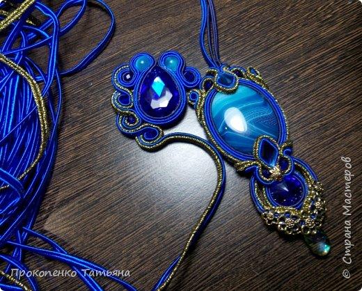 Собрала кристаллы,камушки ,бусинки синих оттенков фото 4