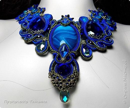 Собрала кристаллы,камушки ,бусинки синих оттенков фото 8