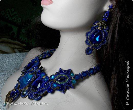 Собрала кристаллы,камушки ,бусинки синих оттенков фото 12