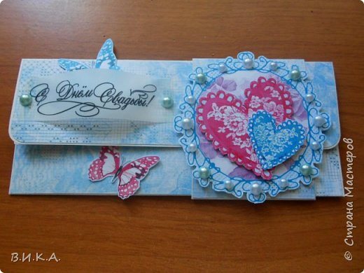 Свадебные конверты и коробочка для денег. фото 2