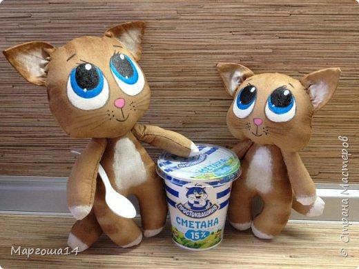 Привет,Страна Мастеров!!! Представляю  своих первых кофейных котиков. Это мама кошка с сыночком. Глазки раскрасила одинаково,т.к.нравится голубой перламутр.Котики так вкусно пахнут,как свежеиспеченная выпечка))) фото 6