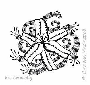 Как нарисовать лилию - лилия в стиле зентангл