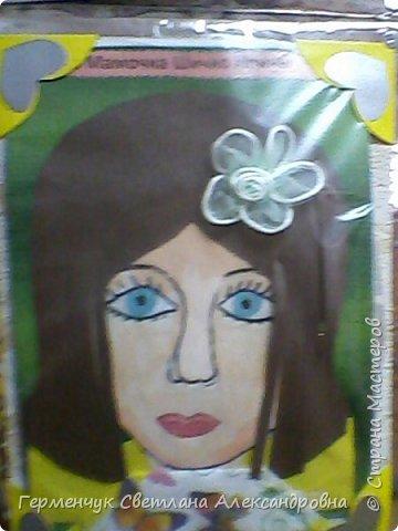 Ученики 3 класса  нарисовали и украсили  портреты своих мам. фото 3