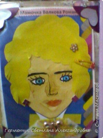 Ученики 3 класса  нарисовали и украсили  портреты своих мам. фото 21