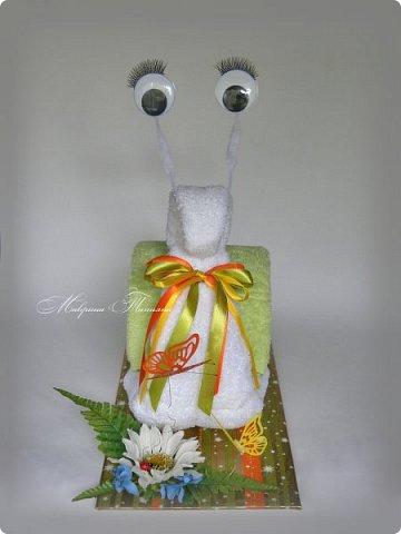 Здравствуйте! Сегодня хочу показать вам еще одну Улитку из полотенец. В составе: полотенце махровое (50*90) - 3 шт. фото 4