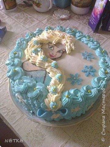 Тортик Холодное Сердце для племянницы фото 2