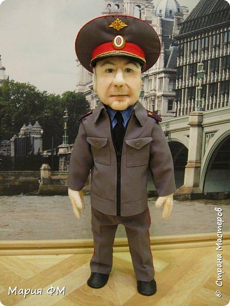Товарищ майор - портретная кукла выполнена к ЮБИЛЕЮ. рост 65 см фото 1