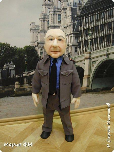 Товарищ майор - портретная кукла выполнена к ЮБИЛЕЮ. рост 65 см фото 2