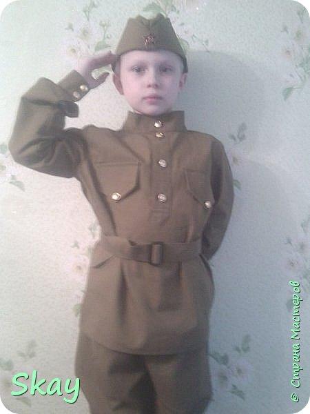 А это мой сынуля в костюме времен ВОВ. фото 1