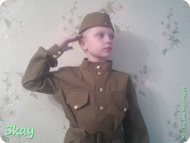 А это мой сынуля в костюме времен ВОВ. фото 2