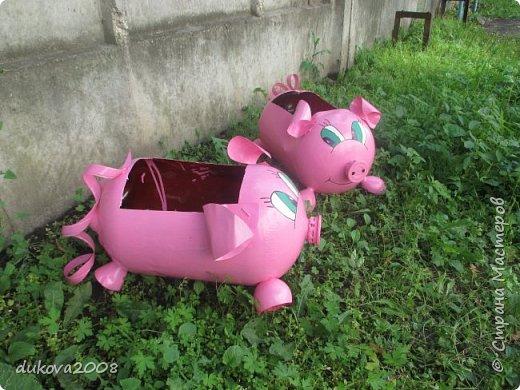 Свинки из пластиковых бутылок  фото 7