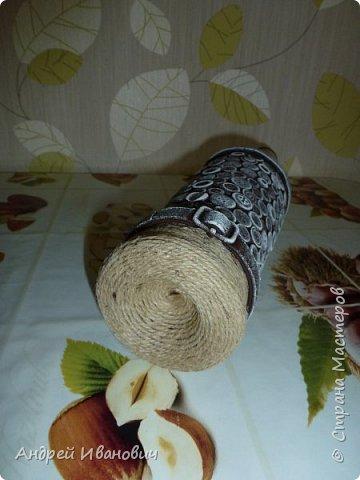 бутылка шпагат пуговицы  пва ремешок  акриловые краски фото 6