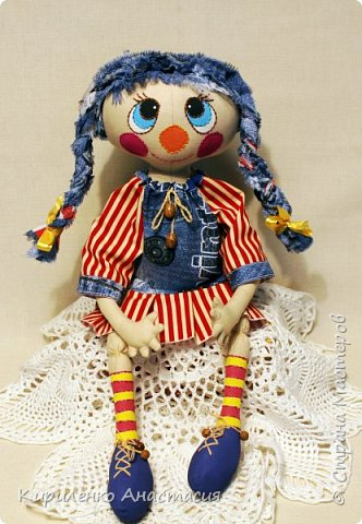 Добрый вечер! Моя новая куколка, она сшита по МК Светланы Хачиной. Выкройку немного изменила, давно хотела сшить такую. фото 2