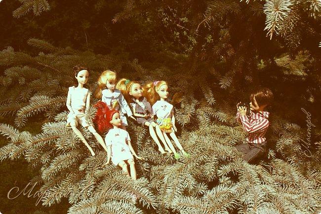 1 августа мы провели первую кукло-встречу . Встречались мои куклы и дочины с куклами Татьяны и Ксюши Воробьевых  фото 11