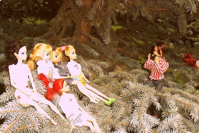 1 августа мы провели первую кукло-встречу . Встречались мои куклы и дочины с куклами Татьяны и Ксюши Воробьевых  фото 12
