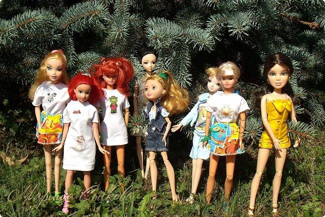 1 августа мы провели первую кукло-встречу . Встречались мои куклы и дочины с куклами Татьяны и Ксюши Воробьевых  фото 1