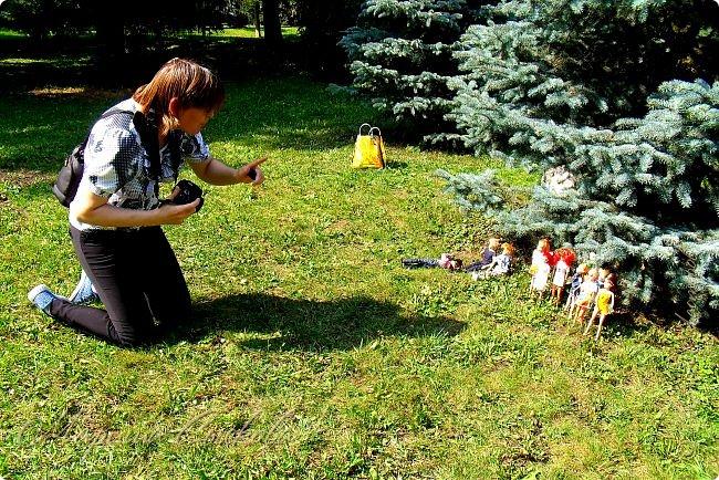 1 августа мы провели первую кукло-встречу . Встречались мои куклы и дочины с куклами Татьяны и Ксюши Воробьевых  фото 4
