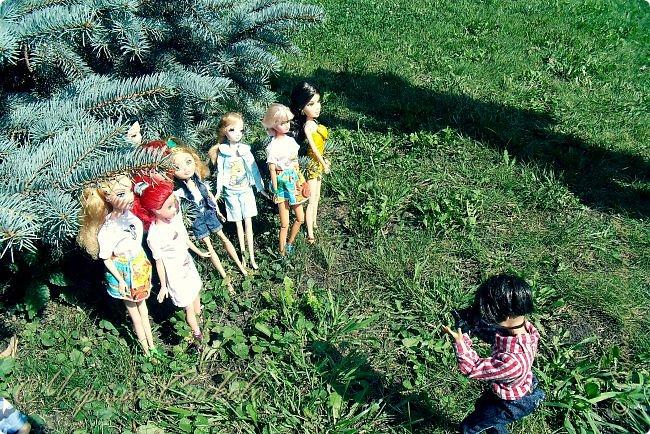 1 августа мы провели первую кукло-встречу . Встречались мои куклы и дочины с куклами Татьяны и Ксюши Воробьевых  фото 14
