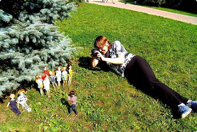 1 августа мы провели первую кукло-встречу . Встречались мои куклы и дочины с куклами Татьяны и Ксюши Воробьевых  фото 5