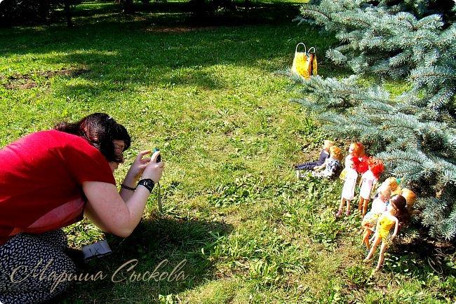 1 августа мы провели первую кукло-встречу . Встречались мои куклы и дочины с куклами Татьяны и Ксюши Воробьевых  фото 8