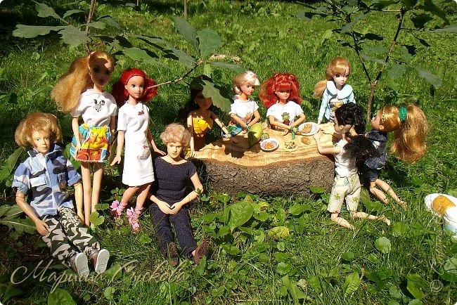 1 августа мы провели первую кукло-встречу . Встречались мои куклы и дочины с куклами Татьяны и Ксюши Воробьевых  фото 15