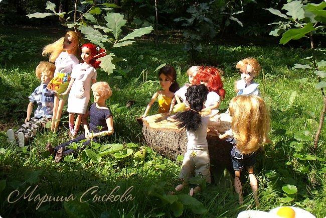 1 августа мы провели первую кукло-встречу . Встречались мои куклы и дочины с куклами Татьяны и Ксюши Воробьевых  фото 17