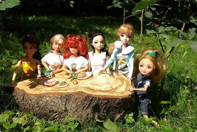 1 августа мы провели первую кукло-встречу . Встречались мои куклы и дочины с куклами Татьяны и Ксюши Воробьевых  фото 18
