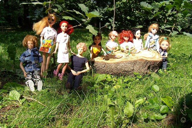 1 августа мы провели первую кукло-встречу . Встречались мои куклы и дочины с куклами Татьяны и Ксюши Воробьевых  фото 19