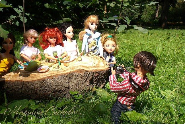 1 августа мы провели первую кукло-встречу . Встречались мои куклы и дочины с куклами Татьяны и Ксюши Воробьевых  фото 20