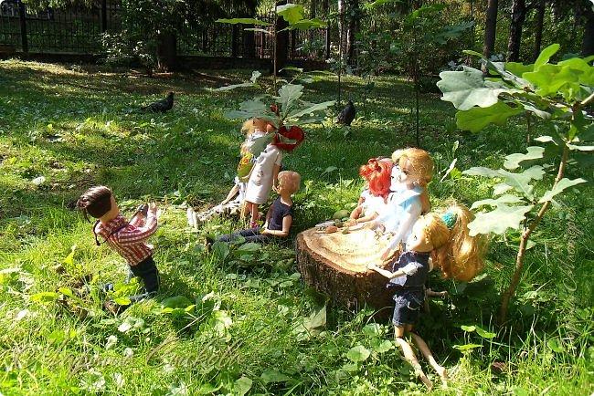 1 августа мы провели первую кукло-встречу . Встречались мои куклы и дочины с куклами Татьяны и Ксюши Воробьевых  фото 21